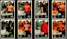 8 X Sammel-Karte / Trading Cards  -  WWE Wrestling  -  Slam Attax Evolution  -  Von Ca. 2008 / 2010   (3) - Sammelbilder, Sticker