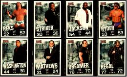 8 X Sammel-Karte / Trading Cards  -  WWE Wrestling  -  Slam Attax Evolution  -  Von Ca. 2008 / 2010   (4) - Sammelbilder, Sticker