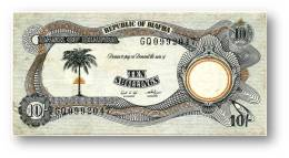 BIAFRA - 10 Shillings ND ( 1968 - 69 ) - Pick 4 - Serie GQ - ( Nigeria ) Africa - Banconote