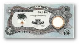 BIAFRA - 10 Shillings ND ( 1968 - 69 ) - Pick 4 - UNC - Serie GK - ( Nigeria ) Africa - Banknotes