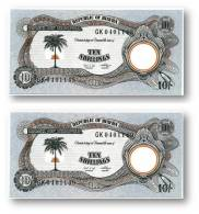 BIAFRA - 2 X Consecutive 10 Shillings ND ( 1968 - 69 ) - Pick 4 - UNC - Serie GK - ( Nigeria ) Africa - Banknotes