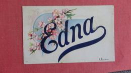 Firstnames  Embossed  Edna --ref 2441 - Firstnames