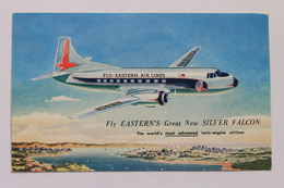 SILVER FALCON, EASTERN AIR LINES, Advertising Postcard - 1946-....: Moderne