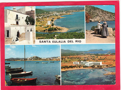 Modern Multi Post Card Of Santa Eulalia Del Río, Autonoma Of Balearic Islands, Spain,Posted With Stamp,D11. - Spanien