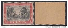 India MNH 1951, Cent., Of Geological Survey, Elephant, Animal, Shegodon Ganesa, - 1950-59 Republic