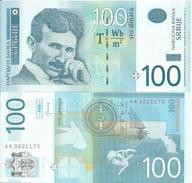 SERBIA 100 DINARA 2013. UNC NEUF  Prefix AA - Serbia