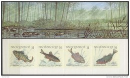 Belgium**RIVER FISHES-BOOKLET 4stamps-1990-Pescados-Poissons-Fische-Vissen-MNH - Belgium