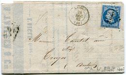 ORNE De LAIGLE GC Précurseur Du 24/12/1862 Sur N°14 Sur LAC - Marcophilie (Lettres)