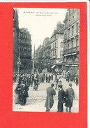 76 ROUEN  Cpa Animée La Rue Du Grand Pont       58 J C - Rouen