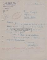 38 2308 GRENOBLE ISERE 1944 Restaurant Et Grill Room Du Cintra LE BEC FIN Place Victor Hugo - 1900 – 1949