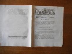 LETTRES-PATENTES DU ROI DONNEES A VERSAILLES LE 10 JUIN 1784 QUI AUTORISENT LES CHEFS DE GARNISON DES DIFFERENTES GENERA - Décrets & Lois