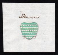 """""""Judmann"""" - Judmann Handschrift Wappen Manuskript Manuscript Coat Of Arms - Stiche & Gravuren"""