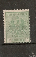 ALSACE LORRAINE N°9 1871 NEUF - Revenue Stamps