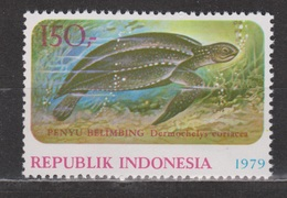 Indonesie, Indonesia Nr. 974 MNH ; Water Schildpad, Turtle, Sea Tortue De La Mer, Tortuga, Schildkrote 1979 - Schildpadden