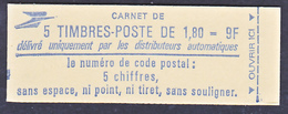 France 2220 C1  Carnet Liberté Fermé  Neuf ** TB MNH  Sin Charnela Cote 7 - Carnets