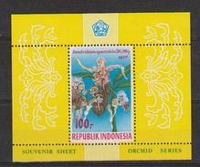 Indonesie Indonesia Blok Sheet Nr.904 (B28) MNH ; Bloemen. Blumen, Flores, Fleurs, Flowers, Orchideen, Orchids 1977 - Orchideeën