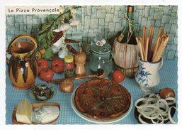 Recette Cuisine--La Pizza Provençale  Georgette Simon  Recette N°607  ,cpsm 15 X 10  éd Montluet - Recettes (cuisine)
