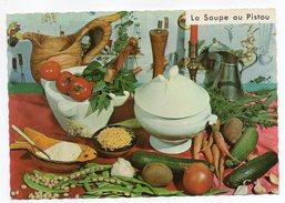 Recette Cuisine--La Soupe Au Pistou  Georgette Simon  Recette N°624  ,cpsm 15 X 10  éd Montluet - Recettes (cuisine)