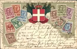Gaufré Timbres Lithographie Italien, Vittorio Emanuele III., Roi Viktor Emanuel III. Von Italien - Non Classificati