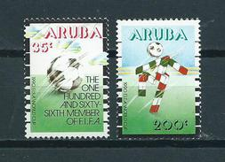 1990 Aruba Complete Set Football,soccer,voetbal MNH/Postfris/Neuf Sans Charniere - Curaçao, Antilles Neérlandaises, Aruba