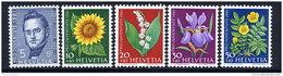SWITZERLAND 1961 Pro Juventute Set  MNH / **.  Michel 742-46 - Unused Stamps