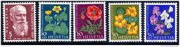 SWITZERLAND 1959 Pro Juventute Set  MNH / **.  Michel 687-91 - Unused Stamps