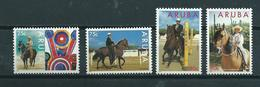1995 Aruba Complete Set Interpaso,horses,cheval,pferde MNH/Postfris/Neuf Sans Charniere - Curaçao, Antilles Neérlandaises, Aruba
