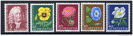 SWITZERLAND 1958 Pro Juventute Set MNH / **.  Michel 663-67 - Unused Stamps