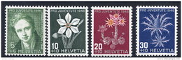 SWITZERLAND 1946 Pro Juventute Set  MNH / **.  Michel 475-78 - Switzerland