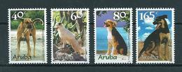 1999 Aruba Complete Set Dogs,honden,chiens MNH/Postfris/Neuf Sans Charniere - Curaçao, Antilles Neérlandaises, Aruba