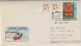 Argentina 1973 Ice Breaker San Martin Cover  (34250) - Poolshepen & Ijsbrekers