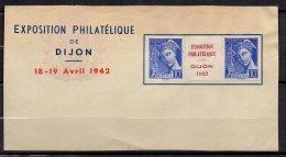 FRANCE - Interpanneau Du 10 C. Mercure Surchargé EXPOSITION PHILATELIQUE - DIJON 1942 - Errors & Oddities