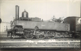 LOCOMOTIVE 1397 Réseau Ouest (ancien Retirage Photo,format Carte Ancienne) - Trains