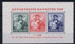 Deutschland Bi Zone  Mi Block Nr 1 C   MNH/**/postfrisch/neuf Sans Charniere
