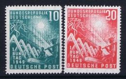 Bund: 1949  Mi 111 - 112 MNH/**/postfrisch/neuf Sans Charniere - BRD