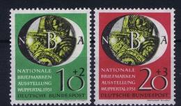 Bund: 1951  Mi  141 - 142  MNH/**/postfrisch/neuf Sans Charniere - [7] Repubblica Federale