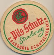 1 Sous-Bock Ancien épais  PILS-SCHUTZ : Brasserie SCHUTZENBERGER - Strasbourg - Schiltigheim - Sous-bocks