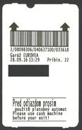Slovakia, Bratislava, Parking Ticket For Eurovea Mall. 2016 - Tickets - Vouchers
