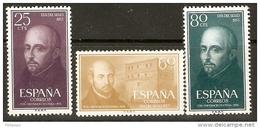 EDIFIL  1166/8*  LOYOLA - 1951-60 Nuevos & Fijasellos