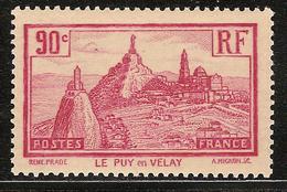 France Variété N° 290 ** Papier Jaune âtre - Ungebraucht