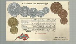 """-""""""""NORWEGEN - Münzenkarte  Und Nationalflagge  """" !!! - Coins (pictures)"""