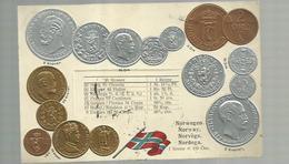 """-""""""""NORWEGEN - Münzenkarte  Und Nationalflagge  """" !!! - Monnaies (représentations)"""