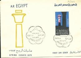 Lettre Egypte 1973 Son Et Lumière Aux Temples De Karnak - Egipto