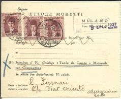 Carte Commerciale Egypte 1937  (91) - Cartas
