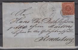 Schleswig 21.Nov.1859 Kpl. Briefchen Mit Dänemark MiNo. 7 Nach Rendsburg - Allemagne