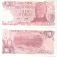 BANCO CENTRAL DE LA REPUBLICA ARGENTINA - CIEN PESOS LEY 18188 BILLETE TBE NUEVO SINUSO NOTE - Argentina
