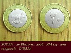SUDAN -  20 Piastres - 2006 - KM 124 - Non-magnetic - GOMAA - Soudan