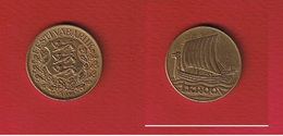 Estonie  --  1 Kroon 1934  --  Km# 16  --  état  SUP - Estonia