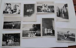 9 PHOTOS 6 X 9 NOIR ET BLANC  SOUVENIR DE RIOM 1940 - Places