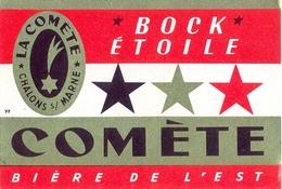 Etiquette Ancienne De BIERE DE L'EST - BOCK ETOILE - LA COMETE - CHALONS SUR MARNE - Bière